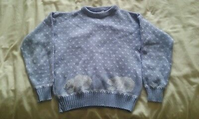 Vintage 80s winter Girls jumper (Polar bears)