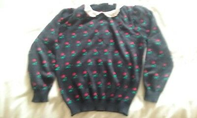 Vintage 80s Girls jumper (flowers)