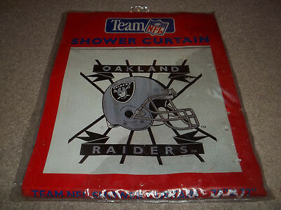 New Vintage Rare Oakland Raiders Team NFL 70 X 72 Shower Curtain 1996 Jay Franco