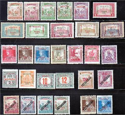 45 stamps HUNGARY 1919 France-French Occupations Szeged Arad / Serbia Romania