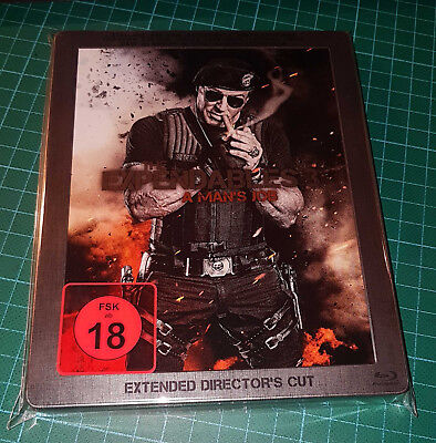 Blu-Ray Steelbook The Expendables 3 A Man's Job Extended Directors Cut Metall Pa
