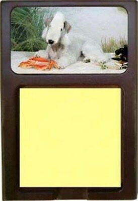 Bedlington Terrier Wood Sticky Note Holder