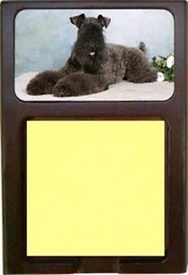 Kerry Blue Terrier Wood Sticky Note Holder