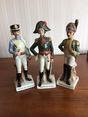 5 military porcelain figurines in good used condition.No obvious chips or cracks