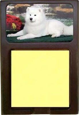 Samoyed Wood Sticky Note Holder