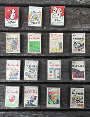 15 different REDHEAD MATCHES MATCHBOXES VINTAGE SELECTION