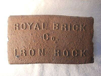 Antique Brick Royal Brick Co. Iron Rock