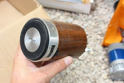 Vintage Sony TR-1829 Barrel Cylinder AM Transistor Radio Wood Grain Look MCM