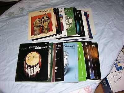 24 American Indian Art Magazine Back Issues 1975 – 1989, First Issue