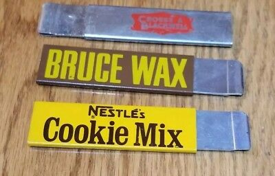 3 VTG Advertising Box Cutters - CROSSE & BLACKWELL, BRUCE WAX & NESTLE''S COOKIE