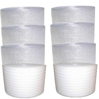 700-750 feet foot FREE SHIP Small bubble Cushioning Wrap Foam Combo 6 Inch Rolls