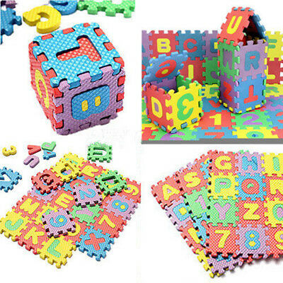 Children Kids Educational Toys Alphabet and Numerals Mini Puzzle Mats 36pcs/Set
