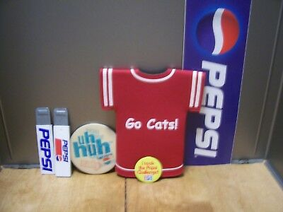 6 Pepsi Items,2 Different Employee Box Cutters,drink Cozy,sticker,2 Badges,coin