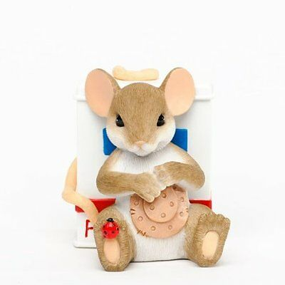 Charming Tails Enesco Collectible 2013 Nurse Mouse, Here To Help You Heal NIB