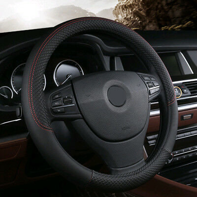 1x Universal PU Leather Car Auto Steering Wheel Cover 15'' 38cm Fit All Seasons