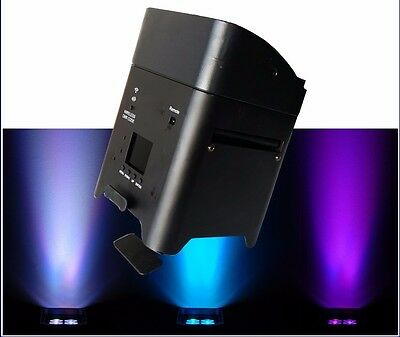 LED AKKU  /Battery PAR 6x 18 W  RGBAW + UV ,W-DMX + FB + App In SCHWARZ