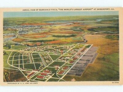 Linen BARKSDALE FIELD - WORLD'S LARGEST AIRPORT Shreveport Louisiana LA E3689