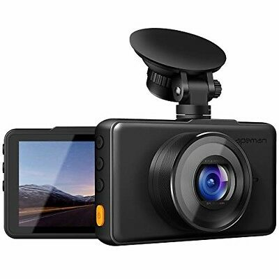 "APEMAN Dash Cam 1080P FHD DVR Car Driving Recorder 3"" LCD Screen 170°Wide Angle"