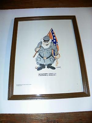 """VTG 1956 """"FORGET, HELL!"""" CIVIL WAR CONFEDERATE SOLIDER CARTOON by JAMES F MARTIN"""