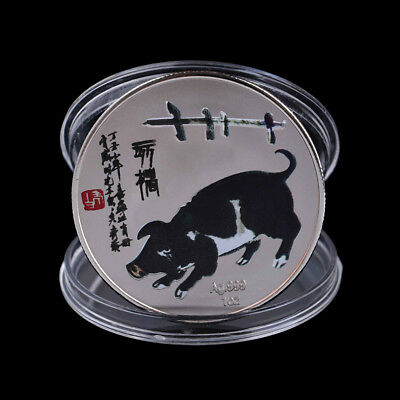 2019 Pig Commemorative Coin Chinese Zodiac Collection Coin Souvenir Craft Gift F