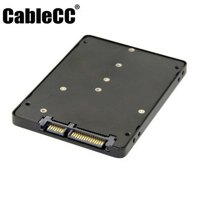 Cablecc B+M Key Socket 2 M.2 NGFF (SATA) SSD to 2.5 SATA Adapter Card Adapter