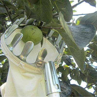 Metal Fruit Picker Orchard Fabric Convenient Gardening High Tree Picking ToolsF9