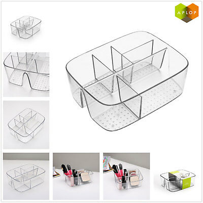 Aplop Desk Organizer Pen Pencil Holder Storage Tray Desktop Office Clear