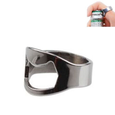 NEW Finger Thumb Ring Bottle Opener Bar Beer Tool Stainless Steel Good Item