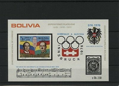Bolivia Bl. 56 postfrisch MNH ** Olympic Games Sport Olympia Montreal