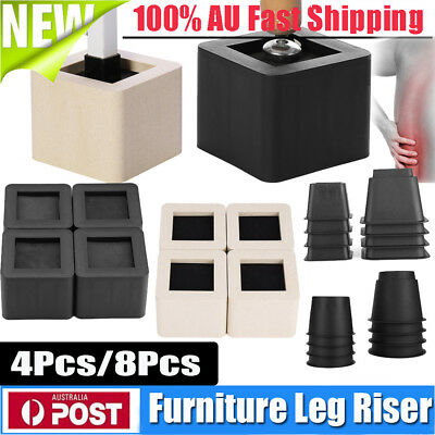 Chair Bed Riser Lift Furniture Leg Support Base Extra Raiser Stand Round/Square