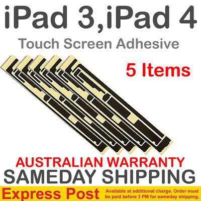 5X Tape iPad 3 4 Gen Glass Screen LCD Digitizer 3M Double Sided Adhesive Black