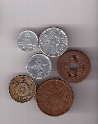 6 Early Japanese Coins.