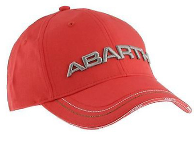 Abarth Fiat Abarth Cap Kappe One Size ROT Low Profile mit Metall Buckle TOP