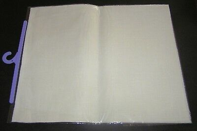 Ecru Fine Linen Rectangle Piece For Embroidery 40 Count 48 x 29cm New FREE POST
