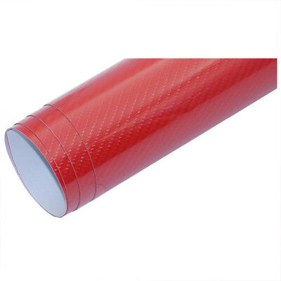 Car Styling 10cm x 152cm Super Quality High Glossy 5D Carbon Fiber Car Wrap W8G4