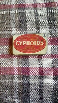 Antique tin- Cyphoids