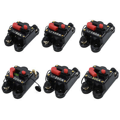 12V - 24VDC 80A-300Amp Car Auto Circuit Breaker Audio Fuse Holder Reset Switch