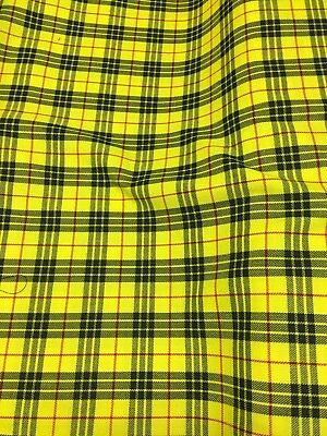 Tartan Check Polyviscose Fabric 150cm Wide Ideal For Skirts And Dresses