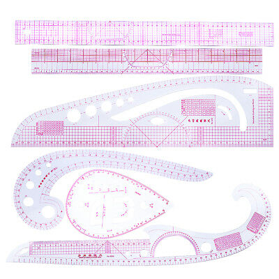 6pcs Sewing French Curve Measure Rulers For Clothing Sew Dressmaking Tailor