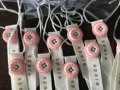 Lot of Matilda Jane NEW Replacement Buttons #435 Pink Flowers Trendy Chic Floral