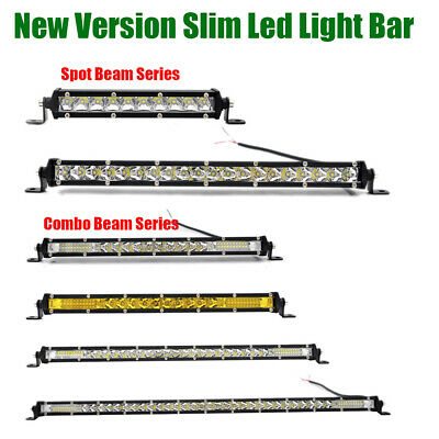 Single Row Slim Led Work Light Bar Combo Beam for Offroad Volvo Ford Jeep Toyota