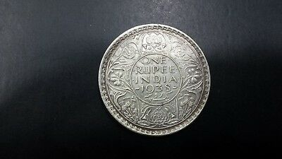 India One Rupee 1938  Silver Coin