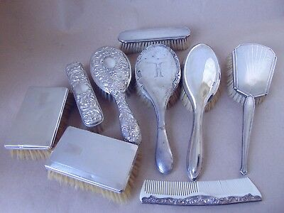 Job Lot Sterling Silver 925 Brushes For Use, Spare, Re-Sell, Scrap Or Repair