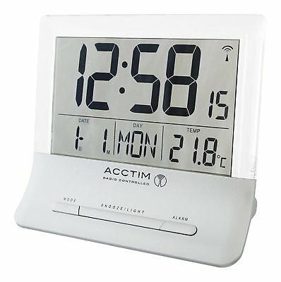 Acctim Glendale Stylish Jumbo LCD Radio Controlled Alarm Clock (our ref5r)