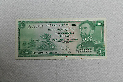 Ethiopia Banknote, 1 Dollar from 1961 in nice condition