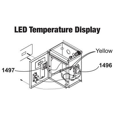 Central Boiler (#1496 & #1497) LED Temperature Display