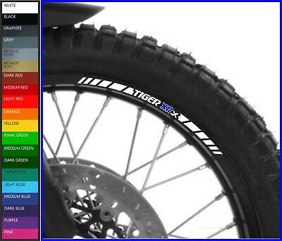 8 x Triumph Tiger XRx Wheel Rim Decals Stickers - 20 colors available - 800 1200