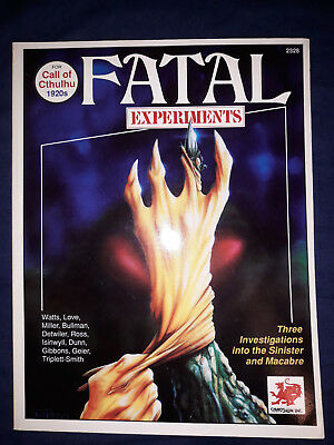 Chaosium Call of Cthulhu  Fatal Experiments - Three Macabre Investigations