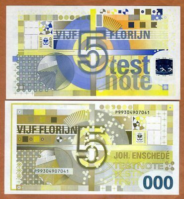 Royal Joh. Enschedé, Test Note, 5 Florinjn, Netherlands, UNC