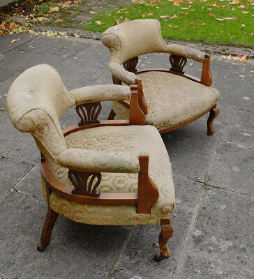 Pair of attractive antique small armchairs